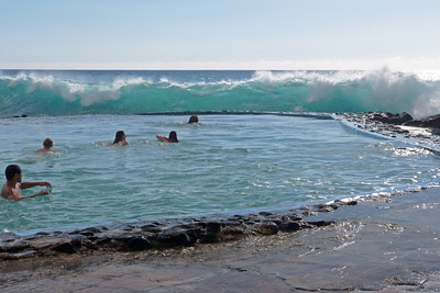 Man-Made Public Saltwater Pool off Alii Drive, Kailua-Kona January 2013, Cynthia Meyer, Hawaii