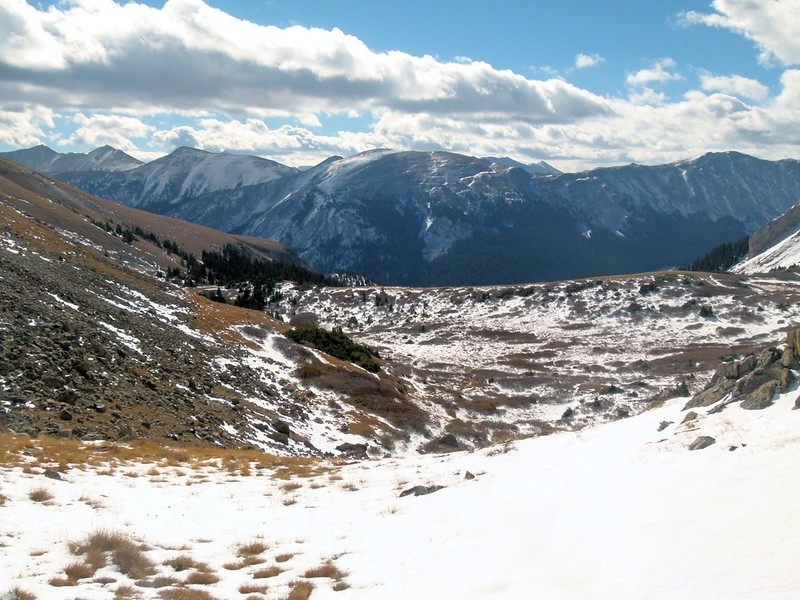 Scene at other side of pass above Ptarmigan Lake