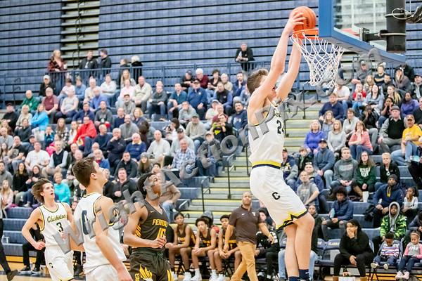 2020 02 21 Clarkston Varsity Basketball vs Ferndale Eagles