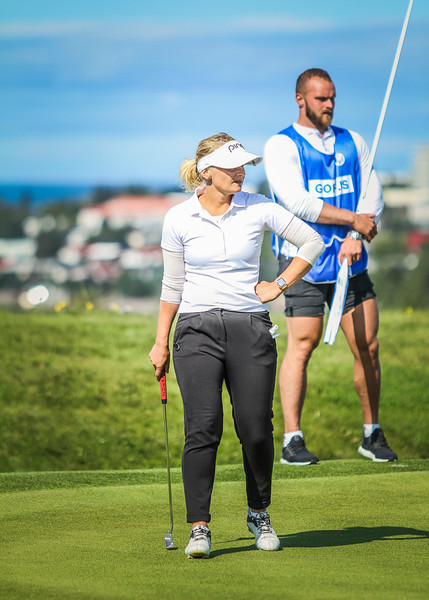 GM, Nína Björk Geirsdóttir. Íslandsmót í golfi 2019 - Grafarholt 2. keppnisdagur Mynd: seth@golf.is