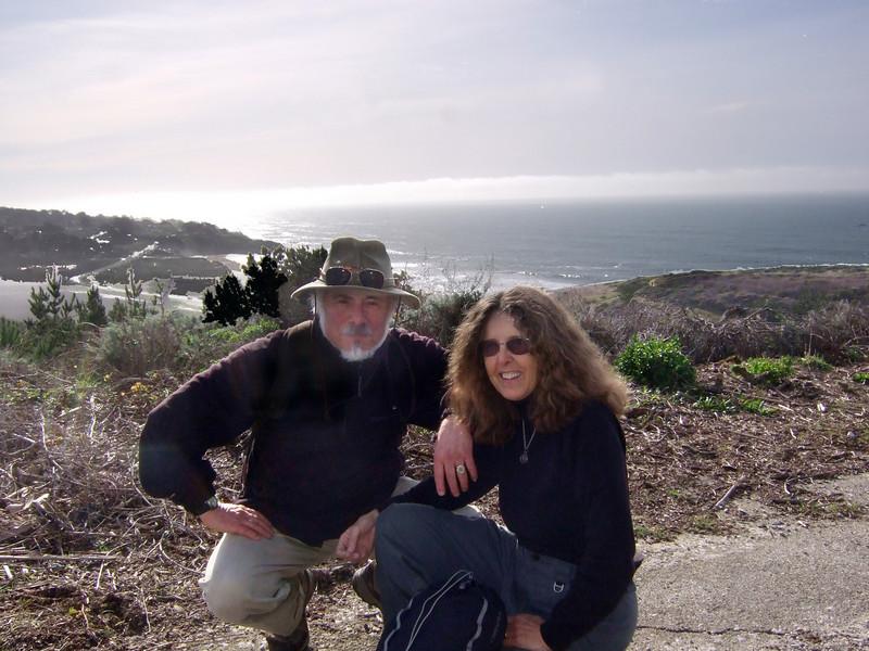 Stephen Somerstein and wife Eva Strauss-Rosen. Hike with Joel McEwen, girl friend, Jean Marie Offenbacher and my wife Eva Strauss-Rosen. Moss Beach Trails. Dec 27, 2010.