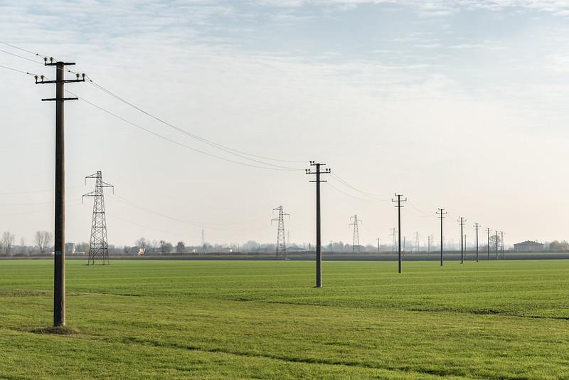 Power Lines - Sant'Agata Bolognese, Bologna, Italy - December 7, 2018