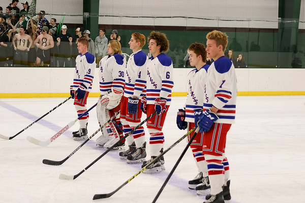 Boys' Varsity Hockey vs New Hampton Playoff Game   March 1