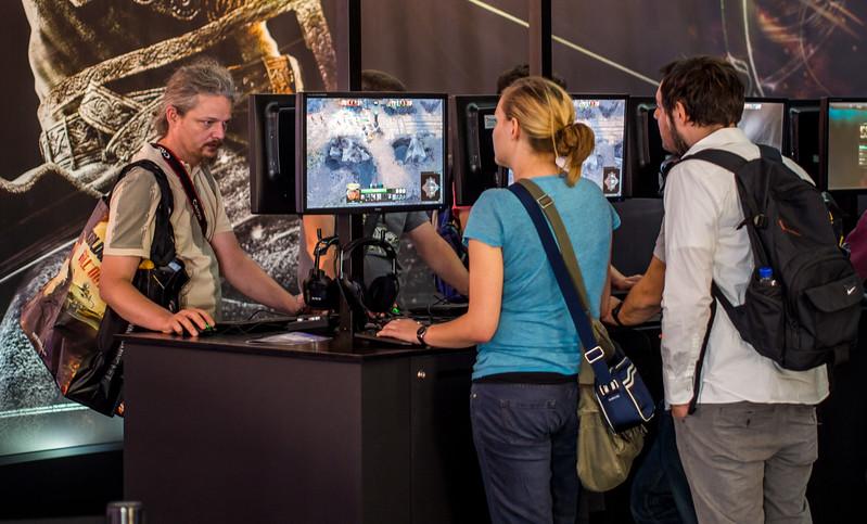 Gamers at Gamescom 2013