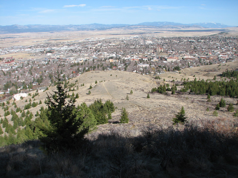 most of the Helena valley, as seen from Mt. Helena