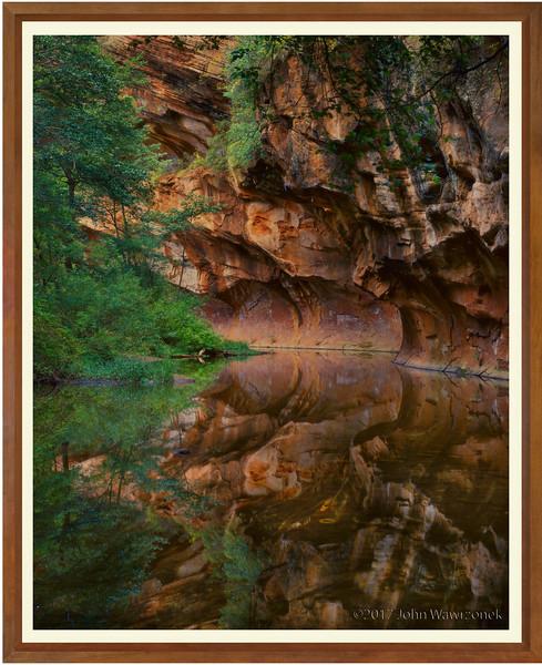 Stream & Canyon Wall