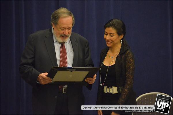 Jorgelina Cerritos @ Embajada de El Salvador | Wed, Dec 05