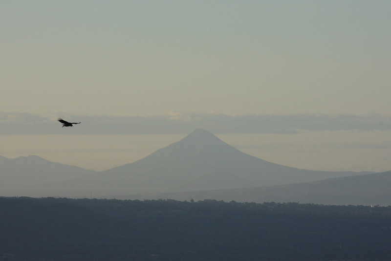 Volcano Xolotlan in the distance located north of Managua
