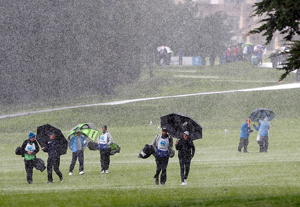 Weather delayed final round of the AT&T Pebble Beach Pro-Am