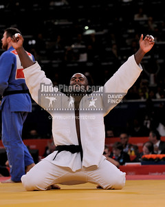 2012 London Olympic Judo 120803B4222 Friday: Teddy Riner of France defeated Alexander Mikhaylin of Russia by a wazari from uchi-mata....