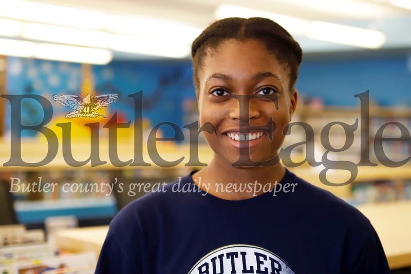 Butler Public Library intern Sarayne Forbes, 16. Seb Foltz/Butler Eagle