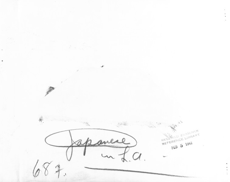 """""""Japanese in L.A.""""--caption on photograph"""