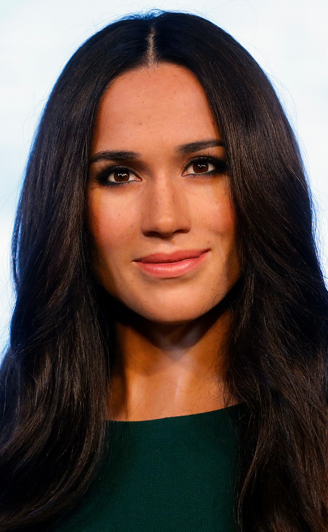 . Britain\'s Prince Harry\'s fiancee Meghan Markle is on display as wax figure at Madame Tussauds in London, Wednesday, May 9, 2018. As the world eyes are on the upcoming royal wedding, Madame Tussauds London unveils Meghan Markle\'s figure. (AP Photo/Frank Augstein)
