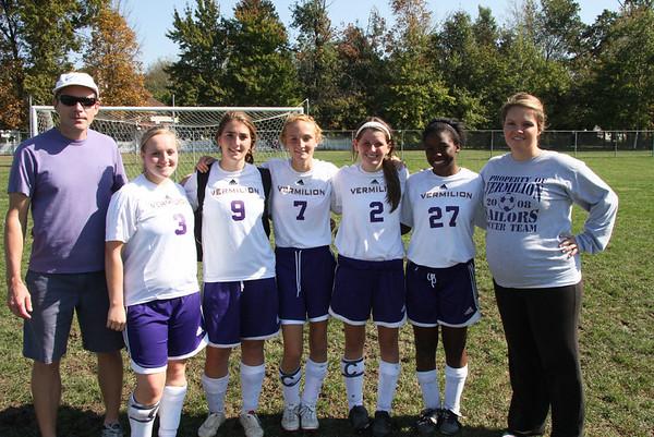 Vermilion, Varsity Girls' last Home field soccer game, October 9, 2010
