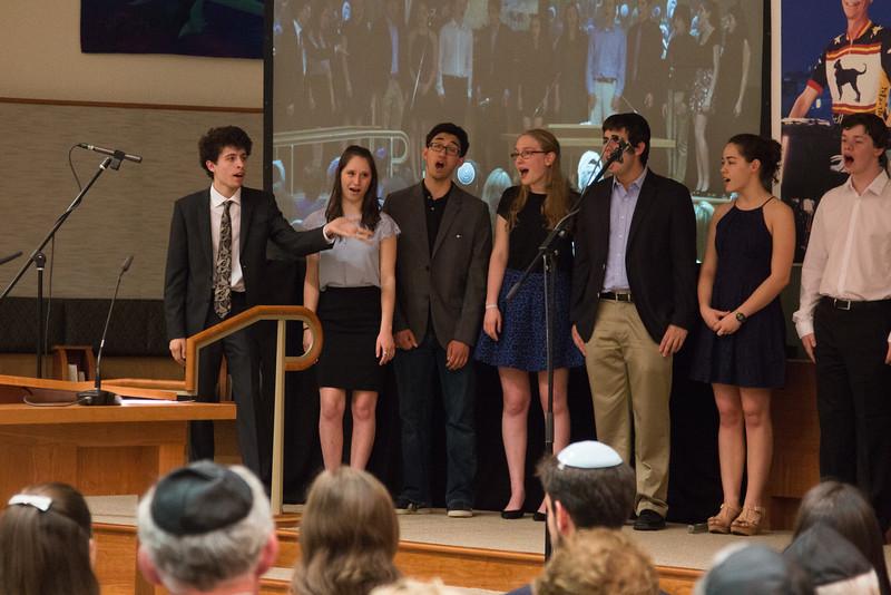 "Marak Hayom performs ""Nachamu"" -- Tour de Rudolph -- Retirement tribute for Rabbi Bill Rudolph, Congregation Beth El, Bethesda, MD, May 17, 2015"