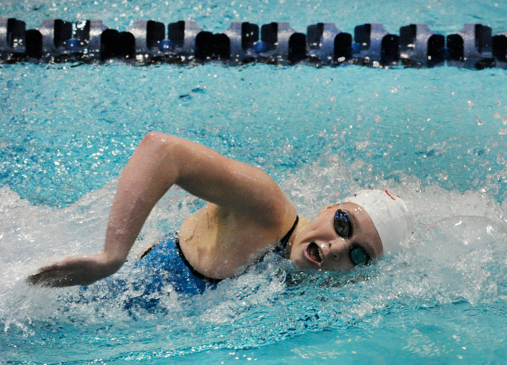 . Fairview High School senior Abigail Houck won the Women\'s 200 Yard Freestyle race in a time of 1:51.98. The Colorado Coaches Invitational Swimming and Diving Meet wrapped up Saturday night, December 15, 2012.  Karl Gehring/The Denver Post