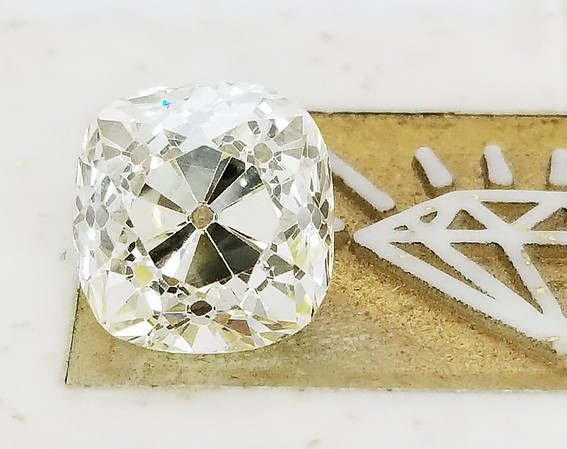 3.70ct Old Mine Cushion - AGS M, VS1