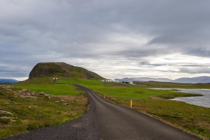The sacred mountain of Helgafell just outside Stykkishólmur