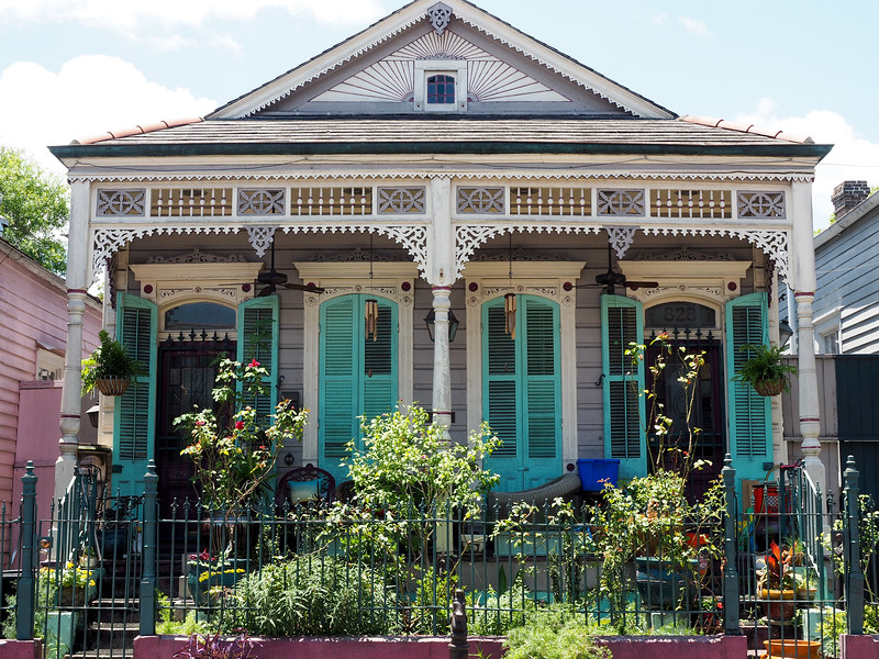 Creole cottage in New Orleans
