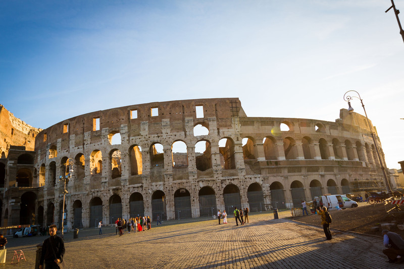 The Colosseum, which is just as big as you'd expect.