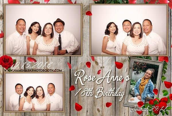 Rose Anne's 18th Birthday