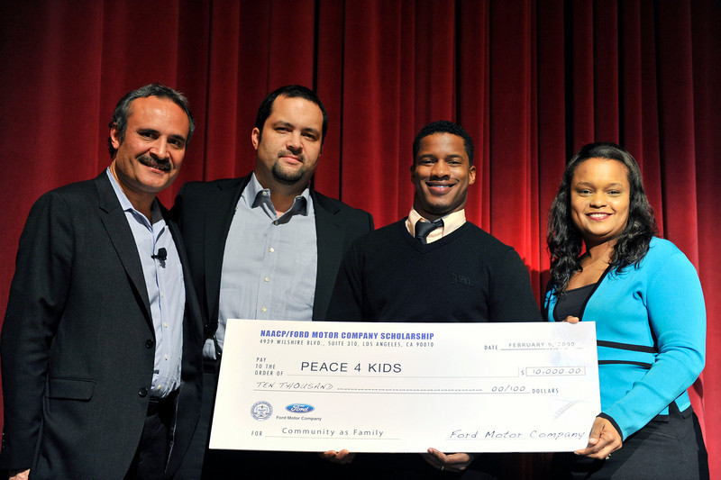 FORD MOTOR COMPANY SPONSORS 5TH ANNUAL NAACP IMAGE AWARDS HOLLYWOOD SYMPOSIUM HELD AT THE ACADEMY OF TELEVISION ARTS & SCIENCES AT THE GOLDENSON THEATRE IN NORTH HOLLYWOOD CALIFORNIA ON FEBRUARY 9, 2009VIC BULLUCK, BEN JEALOUS, NATE PARKER, AND PAMELA ALEXANDER