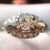 1.18ctw Art Deco Princess Halo Ring 35