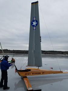 2020 01 24 Ice Boating, Gilford, NH