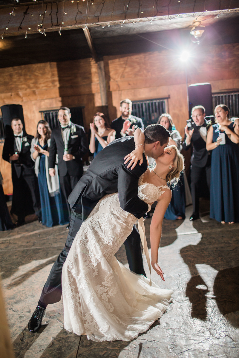 Kyle and Meg's first dance at their Bluemont Vineyards wedding. Photos by the best Washington DC wedding photographer Jalapeno Photography.