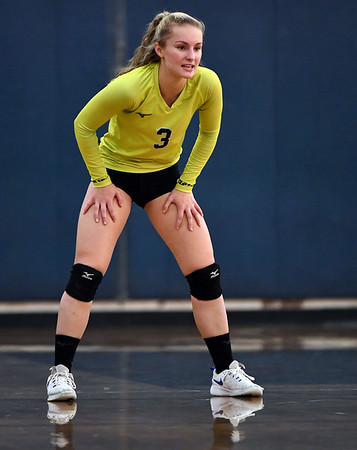 11/16/2019 Mike Orazzi | StaffrBristol Easterns Rebecca Bender (3) during the 2019 State Girls Volleyball Tournament Class L Quarterfinals at BEHS in Bristol Saturday.