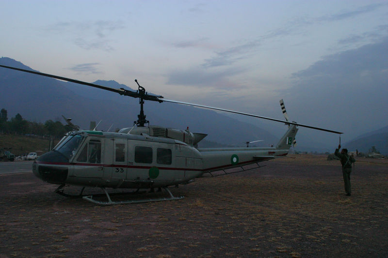 UH-1 from the Ministry of Interior nromally used for border patrol.