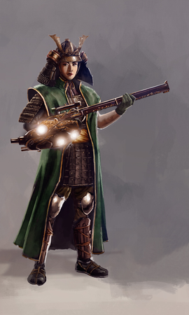 Blake Henriksen's Riflewoman art for *Steel Dragons*
