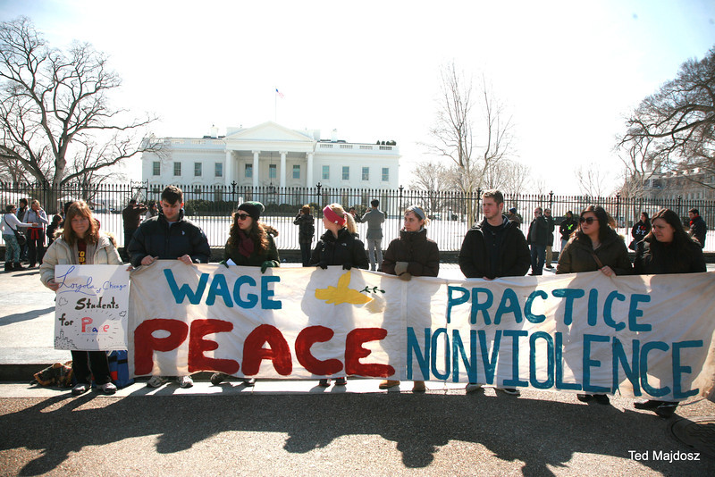 Students For Peace from Loyola University Chicago made the trip East to participate in the start of the Lenten Season