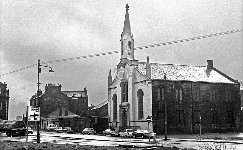 Monkland St., the Martyrs' Parish Church.   March 1973