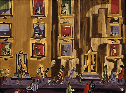 "Jacob Lawrence, ""Street Scene"" (1961)"