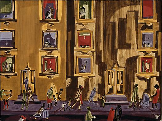 "Jacob Lawrence, ""Street Scene"" (1961)"