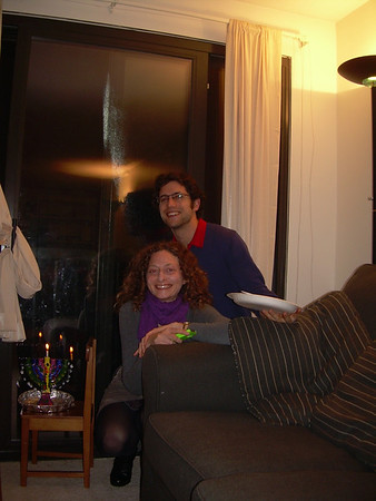 First night Hannuka at the Steiners 8.12.12