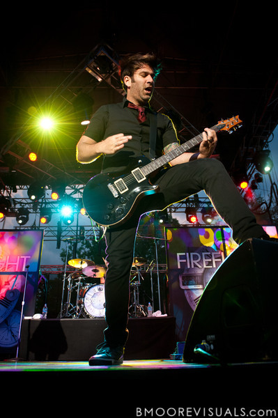 "Justin Cox of Fireflight performs on September 11, 2010 during ""Rock The Universe"" at Universal Studios in Orlando, Florida"