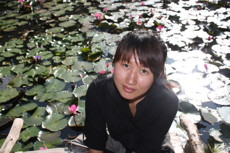 Jinghong, Wild Elephan Valley, beauty on the lotus leaves