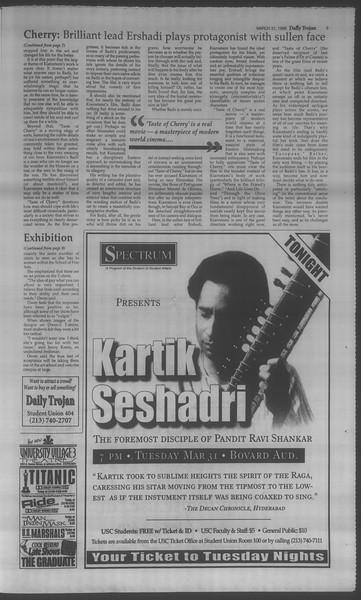 Daily Trojan, Vol. 133, No. 48, March 31, 1998