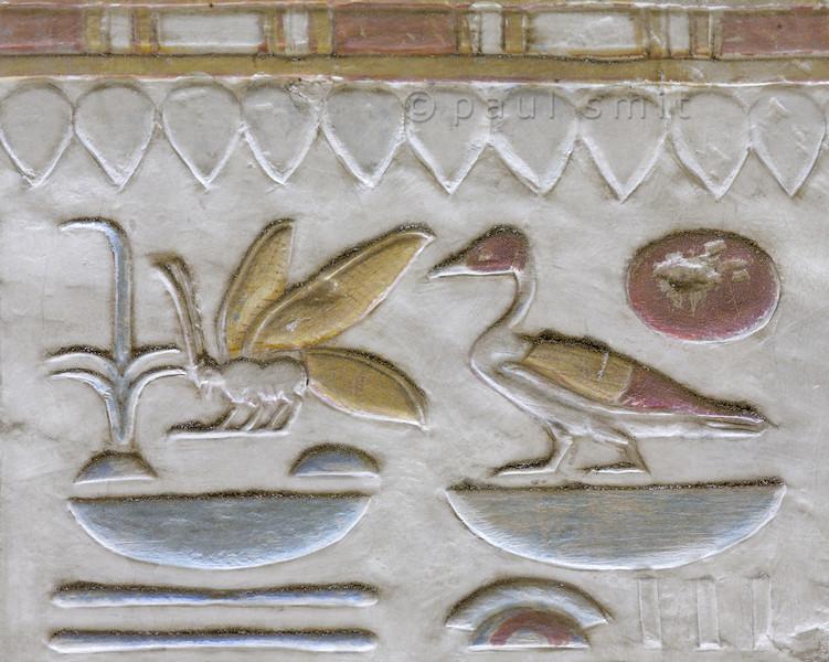 [Egypt 29935] 'Royal nomenclature in Seti Shrine at Abydos'.