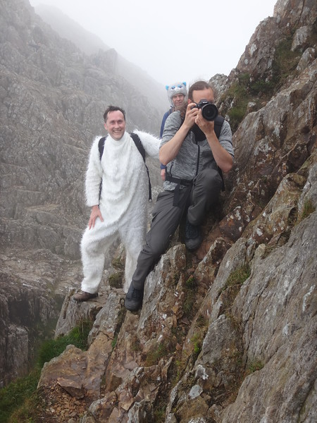 Our unbelievably fearless photographer Chris Shoebridge, who was also unbelievably fit, gambolling back and forth with his camera like a high speed mountain goat!