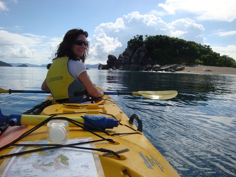 We got a double kayak and headed for White Rocks - a small island just off the mainland.