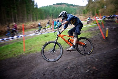 Mini Downhill Mountain Bike racing, Forest of Dean - 4th December 2011