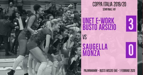 Coppa Italia A1f - Semifinale: Unet E-Work Busto Arsizio - Saugella Monza