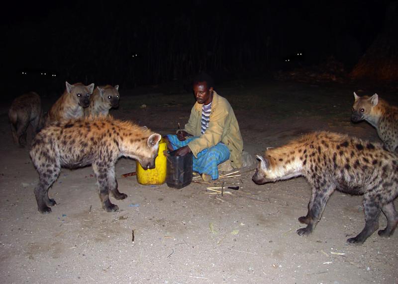 HYENA MAN - HARAR, ETHIOPIA