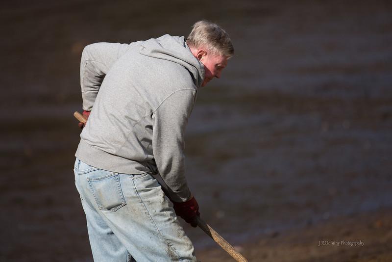 Richard Dilks working the beach