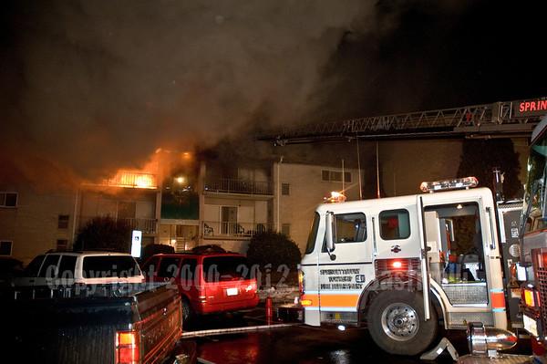 10MAR07 Springettsbury Twp. 3rd Alarm Garden Apartment Fire