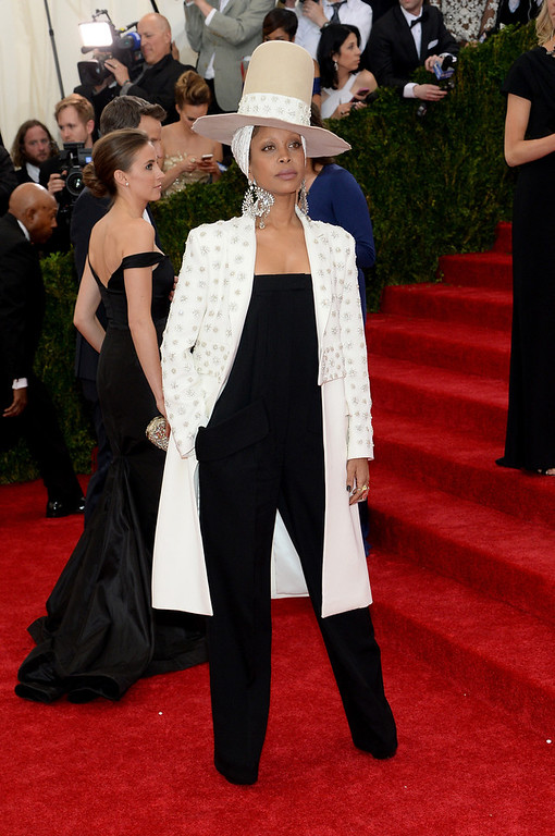 """. Erykah Badu attends the \""""Charles James: Beyond Fashion\"""" Costume Institute Gala at the Metropolitan Museum of Art on May 5, 2014 in New York City.  (Photo by Dimitrios Kambouris/Getty Images)"""