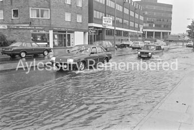 Exchange Street floods, Aug 1986